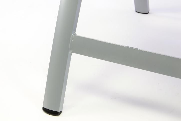 Sada 2 ks luxusních hliníkových polohovatelných černých židlí