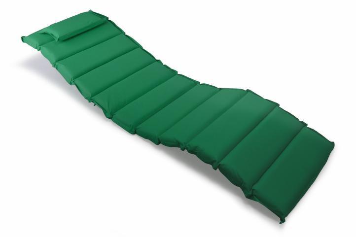 Divero 35878 Sada 2x polstrování na lehátko Garthen - tmavě zelená