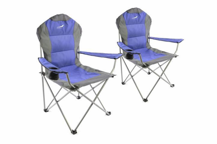 Set skládací kempingová židle Divero Deluxe 2 kusy