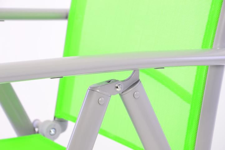 Sada 4 kusů hliníková skládací židle Garth - zelená