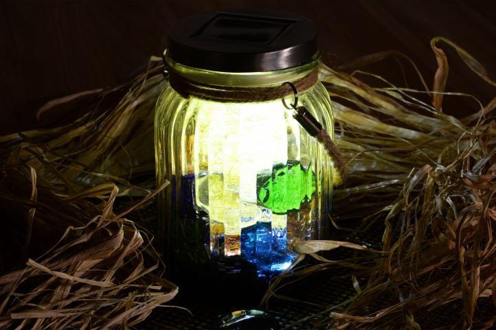 Solární osvětlení - závěsná sklenice