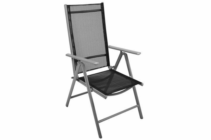 Zahradní balkónový set židle a stůl - černé