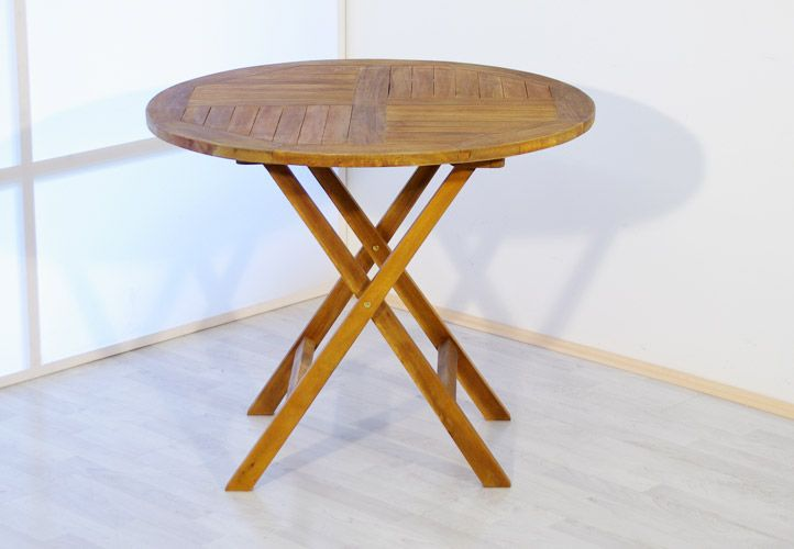 Zahradní kulatý stůl z akátového dřeva Garth, 90 x 90 x 75 cm