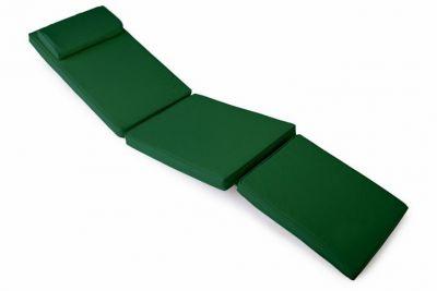 Divero Polstrování pro lehátko 188 cm - tmavě zelená