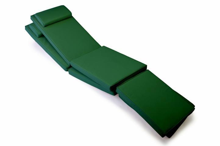 Sada 2 kusů polstrování na lehátka – tmavě zelená