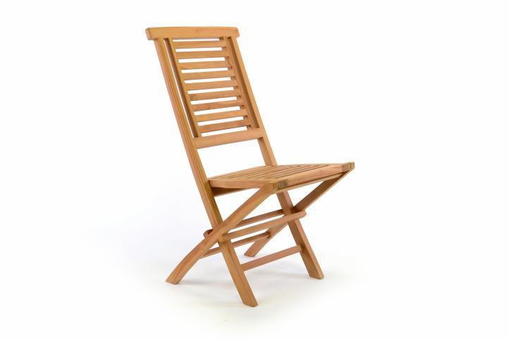 Divero Hantown 36876 Skládací zahradní židle - týkové dřevo