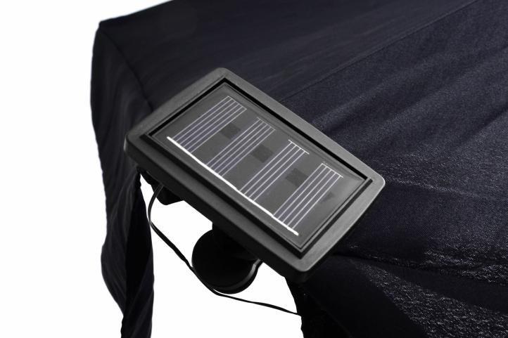 Solární řetěz pro osvětlení slunečníku - 72 LED