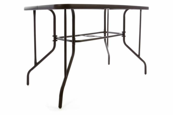 Zahradní stolek se skleněnou deskou 110 x 60 x 72 cm