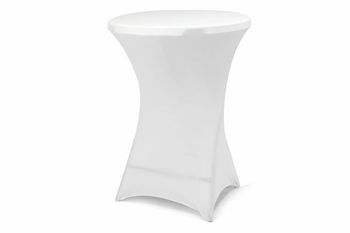 Potah pro vysoký stůl - elastický, bílá 80 x 80 x 110 cm