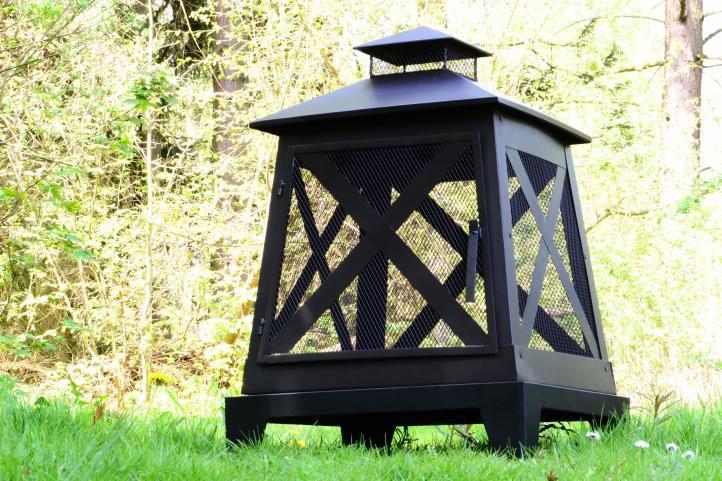 Terasový ocelový zahradní krb 82 x 54 x 54 cm