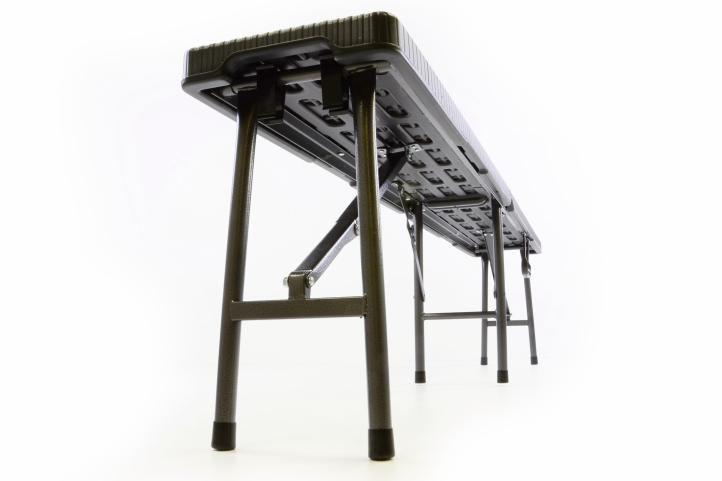 Sada 2 skládacích zahradní lavic v ratanovém designu - 180 x 25 cm
