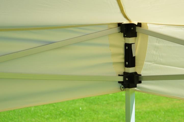 Zahradní párty stan nůžkový PROFI 3x3 m champagne + 2 boční stěny
