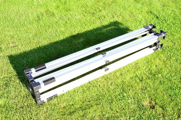 Zahradní párty stan nůžkový PROFI 3x3 m terakota + 2 boční stěny