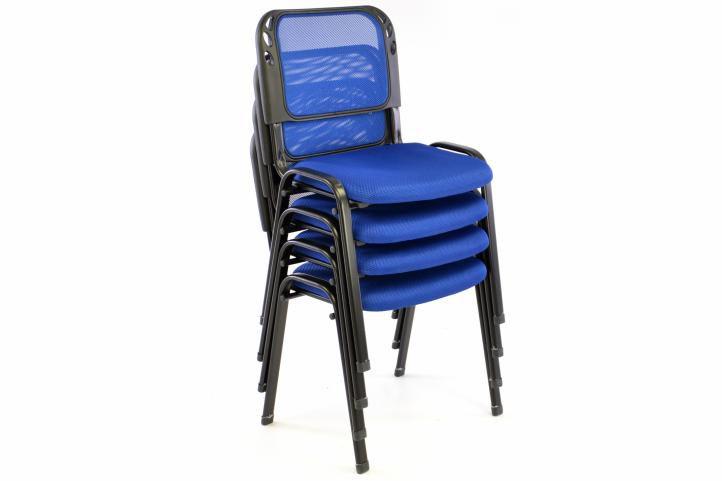 Stohovatelná kongresová židle - modrá