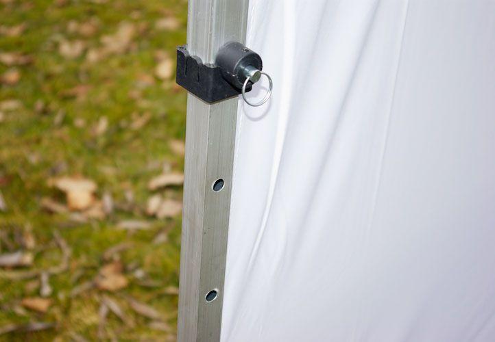 Zahradní párty stan nůžkový PROFI 3x3 m bílý + 2 boční stěny