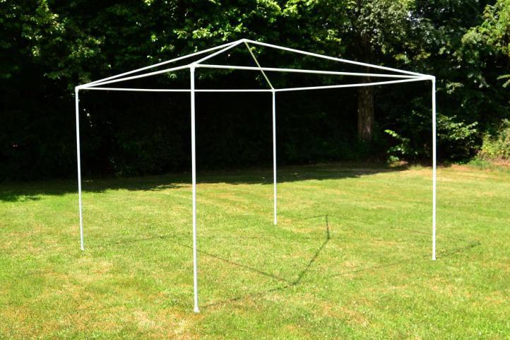 Zahradní párty stan - modrý 3 x 3 m