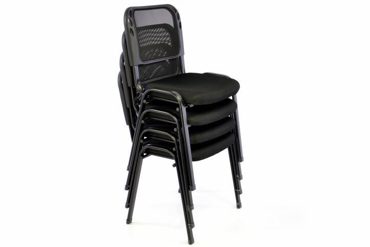 Stohovatelná kongresová židle – černá