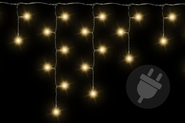 Vánoční světelný déšť - 7,8 m, 400 LED, teple bílý