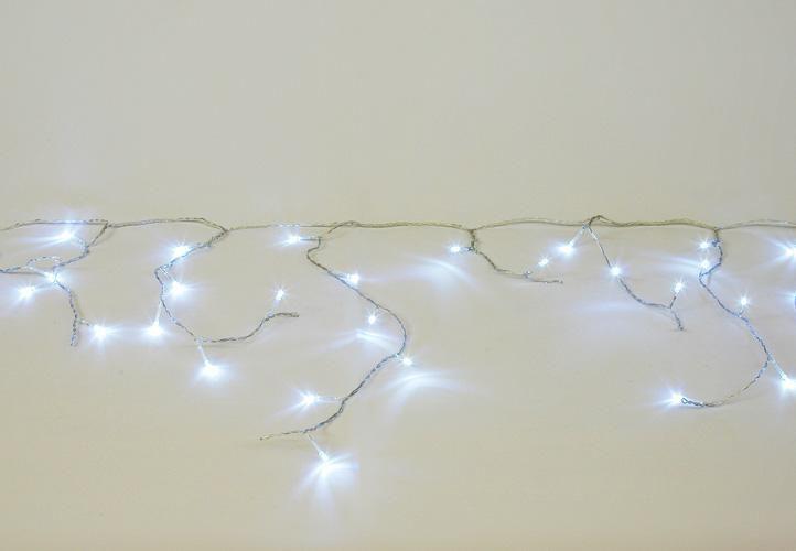 Vánoční světelný déšť 600 LED studená bílá - 11,9 m