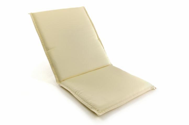 Polstrování na nízké zahradní židle - krémové D38756