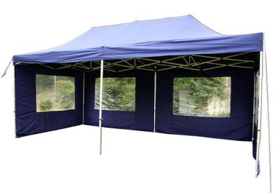 Zahradní párty stan 3 x 6 PROFI - nůžkový - modrý