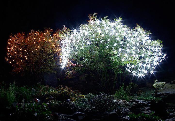 Vánoční LED světelná síť - 1,5x1,5 m, 100 diod, studeně bílá