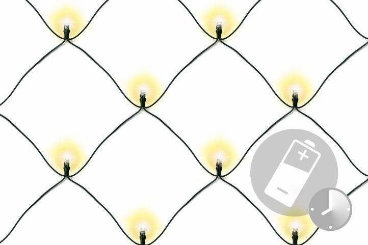 Vánoční LED světelná síť - 1,5 x 1,5 m, 100 diod, teple bílá