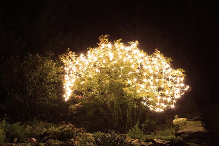 Vánoční LED světelná síť - 2 x 2 m, 160 diod, teple bílá