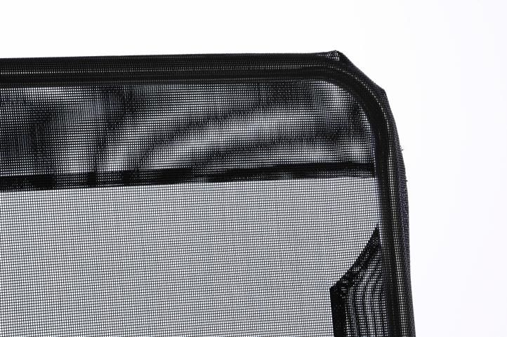 Zahradní lehátko s černou textilií - skládací