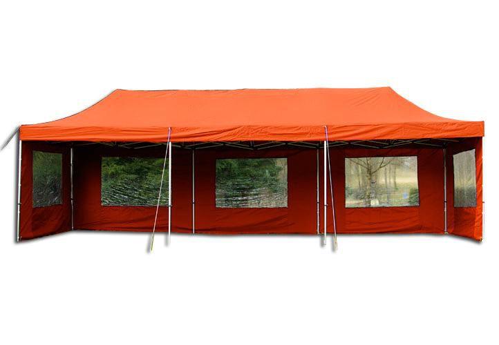 Garthen 405 Zahradní skládací stan - terakota, 3 x 9 m