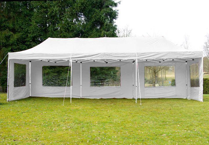 Zahradní skládací párty stan PROFI - bílá 3 x 9 m