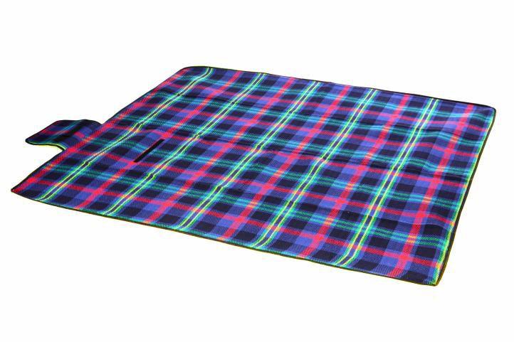 Pikniková deka - modrá kostka 150 x 130 cm