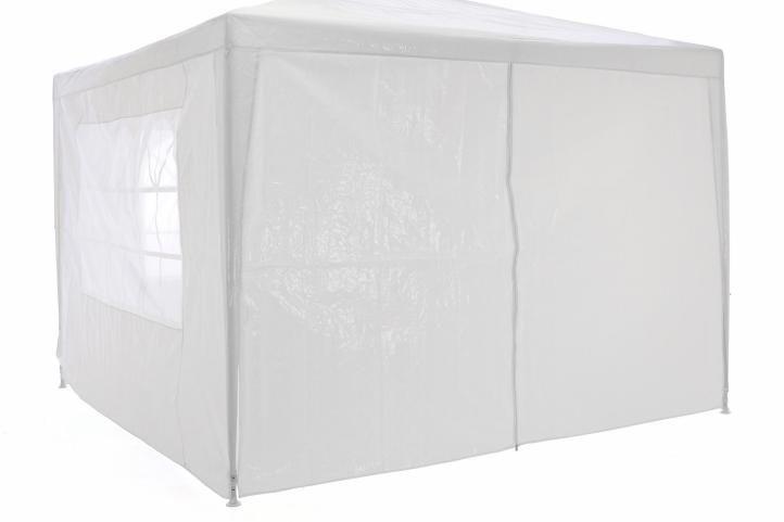 Garthen Zahradní párty stan klasický 3x3 + boční stěny - bílá