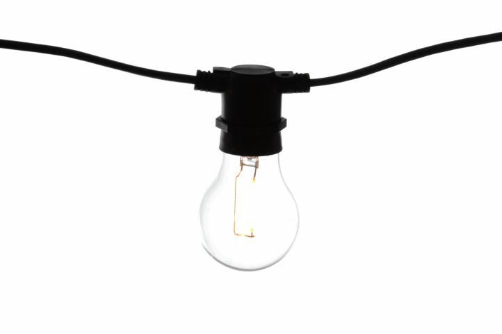 Zahradní párty osvětlení LED - skleněné žárovky - 5 m teple bílá