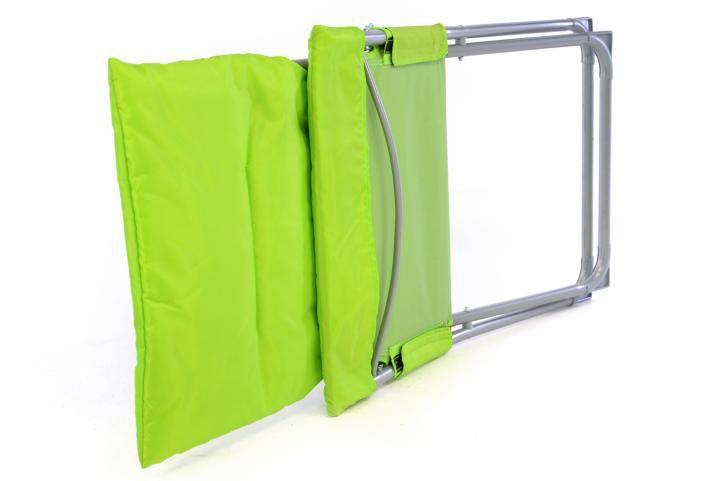 Skládací kempinková židle - zářivě zelená