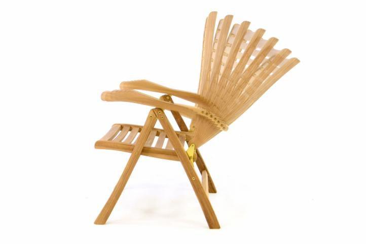 Dřevěná polohovatelná židle DIVERO – týkové dřevo