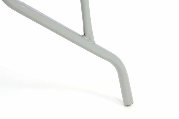 Zahradní set -  4 stohovatelné židle a skleněný stůl - černá