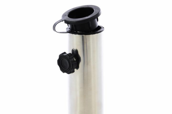 Stojan na slunečníky kulatý žula - 30 kg černá