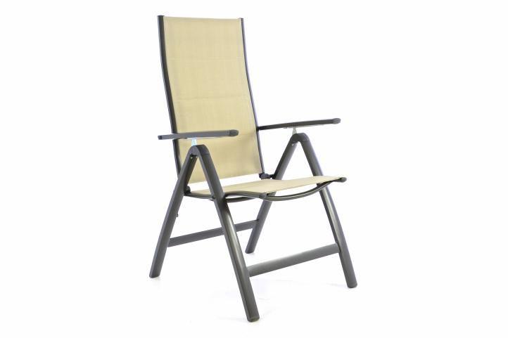 Zahradní skládací židle DELUXE - krémová