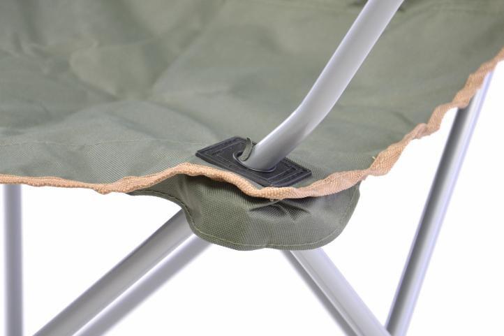 Skládací rybářská židle s držákem nápojů - tmavě zelená
