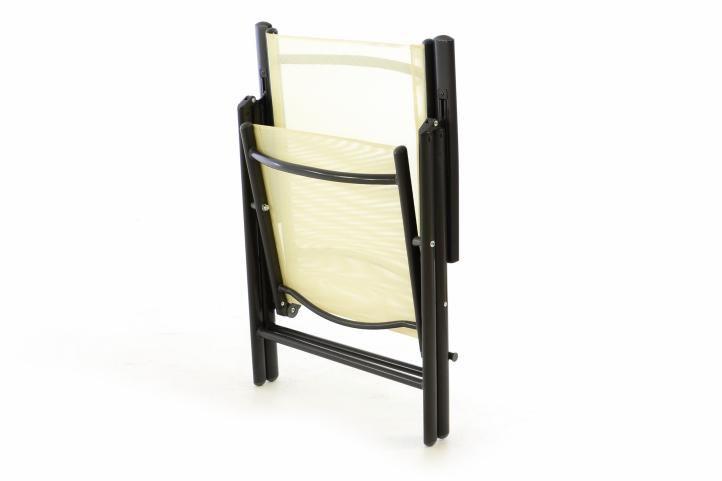 Zahradní polohovatelná židle - krémová