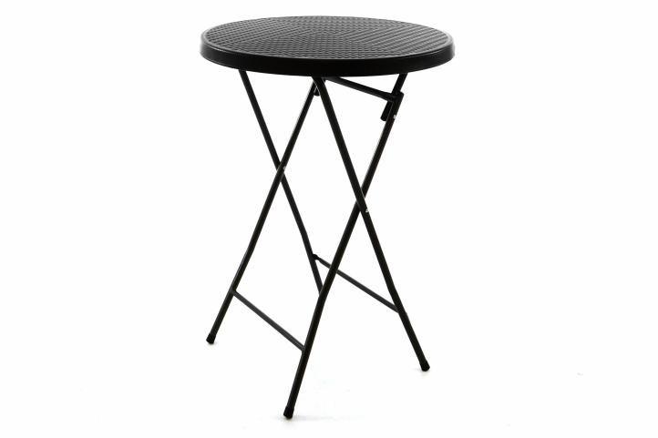 Zahradní barový stolek kulatý - ratanová optika 80 cm