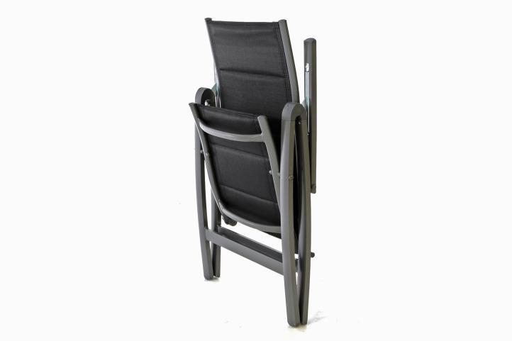 Zahradní hliníková židle DELUXE - černá