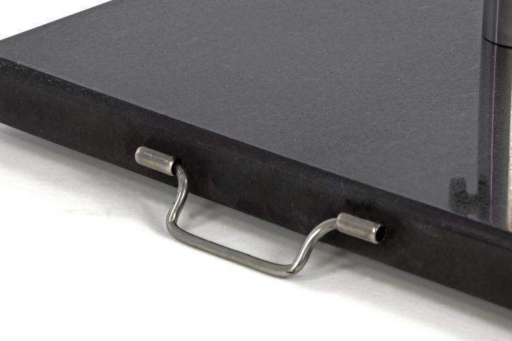 Podstavec pro slunečníky čtvercový žula - 27 kg černá