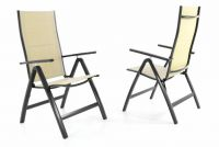 Garthen DELUXE Sada dvou zahradních skládacích židlí - krémová