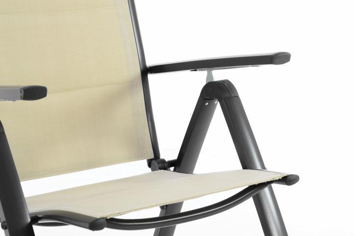 Sada dvou zahradních skládacích židlí DELUXE – krémová