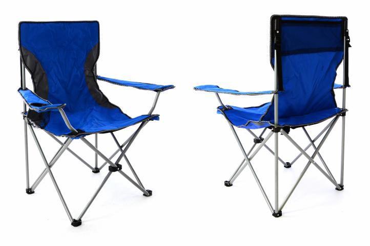 Sada 2 ks skládacích židlí – modrošedá