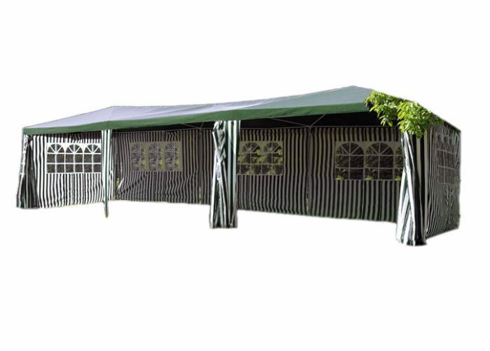 Zahradní stan – zelený, 3 x 9 m