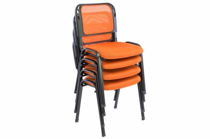 Sada 4 stohovatelných kongresových židlí - oranžová