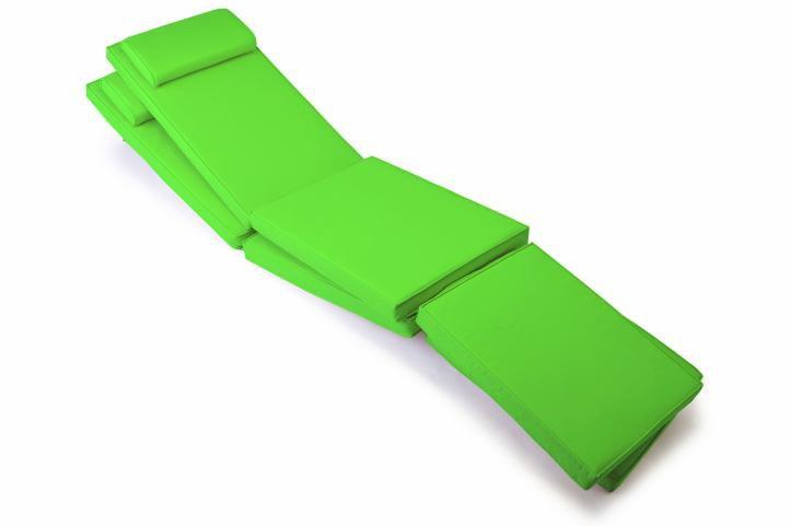 Sada  polstrování pro lehátko 188 cm - 2 ks, světle zelená